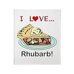 I Love Rhubarb Throw Blanket