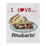I Love Rhubarb Throw Blanket