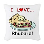 I Love Rhubarb Woven Throw Pillow