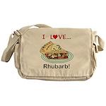 I Love Rhubarb Messenger Bag