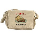 I Love Rhubarb Messenger Bag