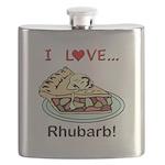 I Love Rhubarb Flask