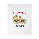 I Love Rhubarb Twin Duvet Cover