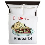 I Love Rhubarb Queen Duvet