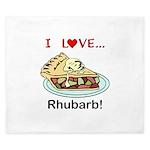I Love Rhubarb King Duvet