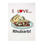 I Love Rhubarb 5'x7'Area Rug