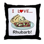 I Love Rhubarb Throw Pillow