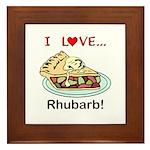 I Love Rhubarb Framed Tile