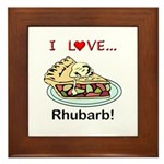 I Love Rhubarb Framed Tile