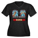 Obama NObama Big Asshole Women's Plus Size V-Neck