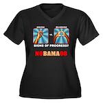 Obama NObama Big Asshole Women's Plus Size V-Neck