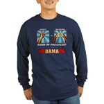 Obama NObama Big Asshole Long Sleeve Dark T-Shirt
