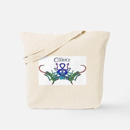 Elliott's Celtic Dragons Name Tote Bag
