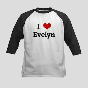 I Love Evelyn Kids Baseball Jersey