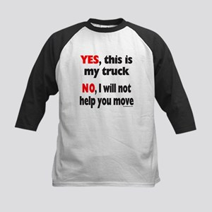 YES, THIS IS MY TRUCK Kids Baseball Jersey