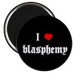 """""""I [heart] blasphemy"""" 2.25"""" Magnet (100 pack)"""