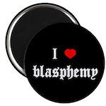 """""""I [heart] blasphemy"""" 2.25"""" Magnet (10 pack)"""