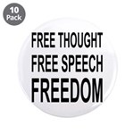 """FREEDOM"" 3.5"" Button (10 pack)"