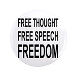 """FREEDOM"" 3.5"" Button (100 pack)"