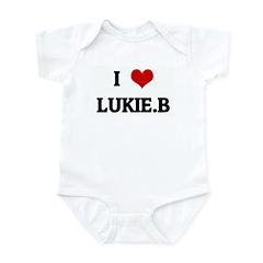 I Love LUKIE.B Infant Bodysuit