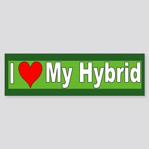 I Love My Hybrid Bumper Sticker