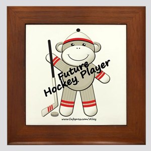 Future Hockey Player Framed Tile