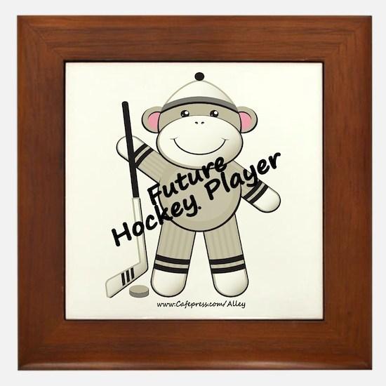 Future Hockey Player Framed Tile