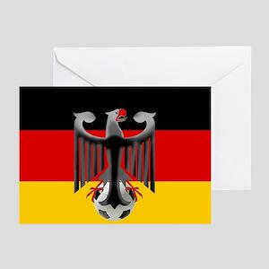 German Soccer Flag Greeting Cards