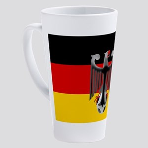 German Soccer Flag 17 Oz Latte Mug