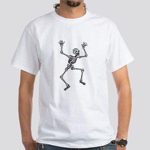 White Dancing Skeleton T-Shirt