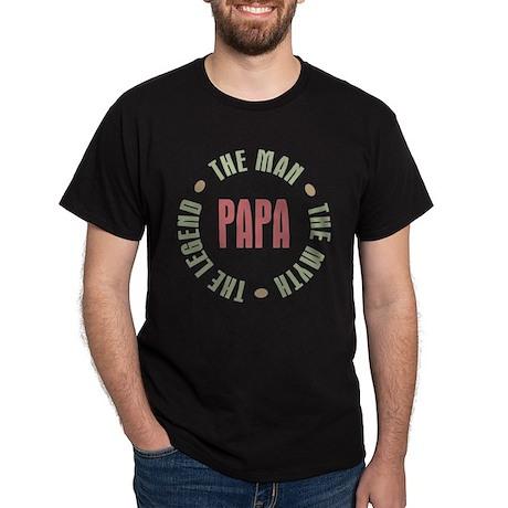 Papa Man Myth Legend Dark T-Shirt