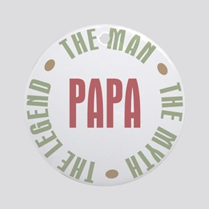 Papa Man Myth Legend Ornament (Round)