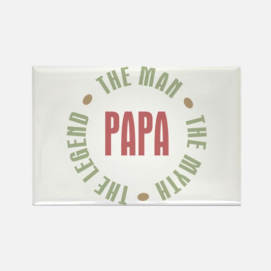 Papa Man Myth Legend Rectangle Magnet