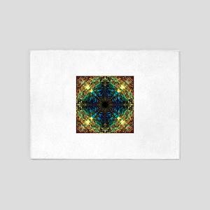 Sapphire Jeweled Mandala 5'x7'Area Rug