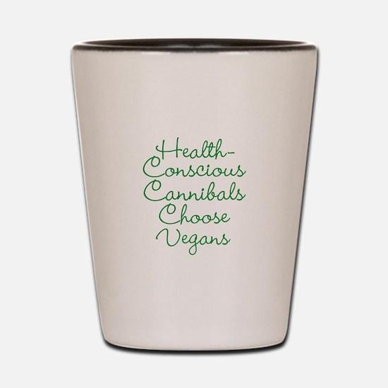 Vegans Shot Glass
