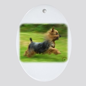 Australian Silky Terrier 9B19D-03 Ornament (Oval)