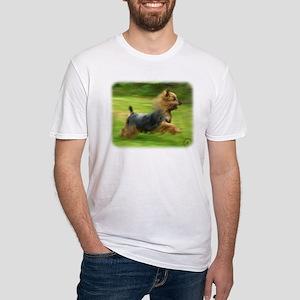 Australian Silky Terrier 9B19D-03 Fitted T-Shirt