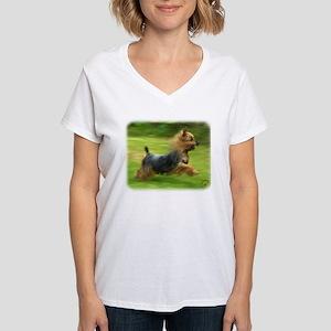 Australian Silky Terrier 9B19D-03 Women's V-Neck T