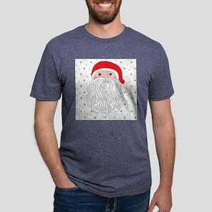 Santa Green Sparkle Mens Tri-blend T-Shirt