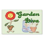 Garden Diva Rectangle Sticker