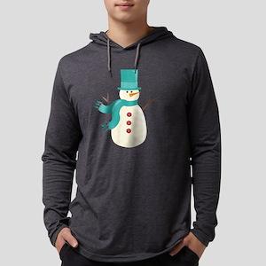 Snowman Mens Hooded Shirt