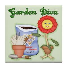 Garden Diva Tile Coaster