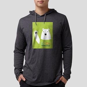 Waving Tenacious Youth Polar Bear Mens Hooded Shir