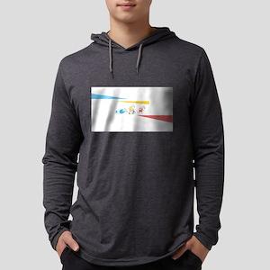 Polar Bear Triathletes Triangles Mens Hooded Shirt