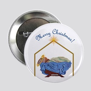 Baby Jesus Christmas Button