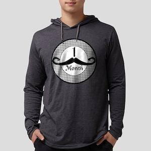 Mustache 1 Month Milestone Mens Hooded Shirt
