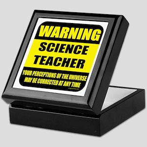 Warning science teacher Keepsake Box