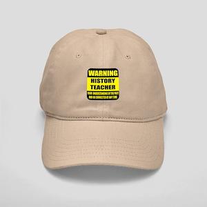 Warning history teacher sign Cap