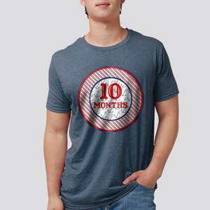 Pirate 10 Months Milestone Mens Tri-blend T-Shirt