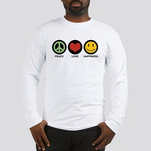 Peace Love Happiness Long Sleeve T-Shirt
